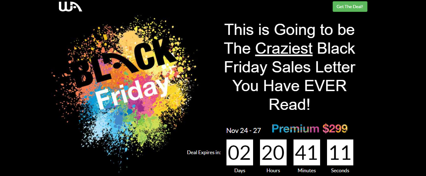 Wealthy Affiliate Black Friday Deal!